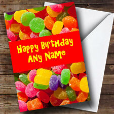 Jelly Tots Sweets Personalised Birthday Greetings Card