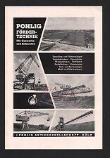 Colonia, publicidad 1960, j. Pohlig AG estímulo técnica