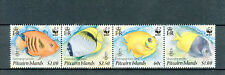 Pitcairn Islands 2010 MNH Reef Fish WWF 4v Set Strip Marine Chaetodon Centropyge