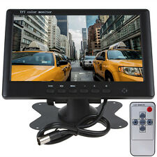 "7"" Widescreen TFT LCD Car Rear view Color Monitor Display  2 Video Input - Black"