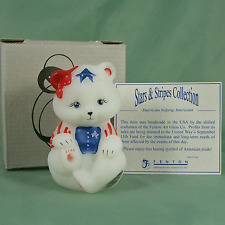 Fenton Bear Stars n Stripes H-P Red White Blue Mint in Box New Old Store Stock