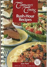 COMPANY'S COMING RUSH HOUR  JEAN PARE SERIES SOFTCOVER SPIRAL BOUND COOKBOOK