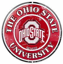 "The Ohio State University Buckeyes Embossed Metal 12"" Circle Sign"