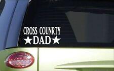 Cross country Dad *H810* 8 inch Sticker decal running 5k marathon