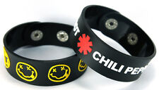 NIRVANA RED HOT CHILI PEPPERS NEW! 2pcs(2x) Rubber Bracelet Wristband ww149