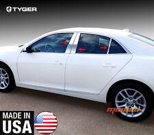 TYGER For 2013-2015 Chevrolet Malibu 6PC Stainless Steel Chrome Pillar Post Trim
