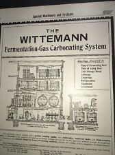 Wittemann   Brewing Equipment Beer Ad 1907 Brewery Carbonating System