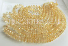 "7"" strand AAA light CITRINE faceted large gem stone rondelle beads 6mm - 8mm"