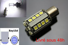 2 Ampoules LED BAY15D / P21/5W Canbus Anti Erreur - Blanc Feux de recul /Jour