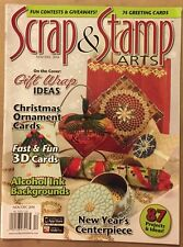 Scrap & Stamp Gift Wrap Ideas Christmas Ornament Nov/Dec 2014 FREE SHIPPING!