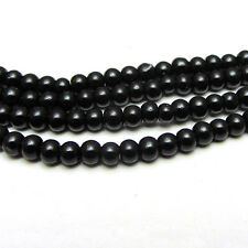 New 3MM 150pcs Charm Round  Beads Glass Spacer Pearls Black  Color