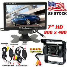 "Bus Truck Rear View Wireless IR Night Backup Camera+7"" Digital Color LCD Monitor"