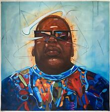 """32x32"""" Biggie Smalls Notorious BIG oil painting on canvas, handmade not printed"""