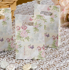 10 FAVOUR GIFT BAGS Wedding WITH LOVE Vintage Doves Hearts Butterflies Roses