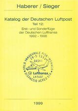 Haberer Erstflüge 1992-1998 Lufthansa first flights Germany eerste vluchten