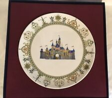 Disney 50th Anniversary SLEEPING BEAUTY CASTLE Dessert plate #6 BRAND NEW IN BOX