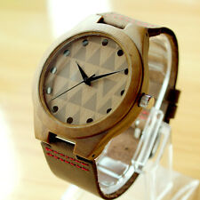 Men's Wooden Wood Watches With Gift Box Leather Band Wristwatch Men Brand Watch