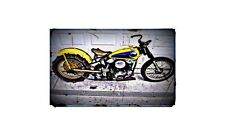 1947 Harley Davidson Knucklehead Bike Motorcycle A4 Photo Poster
