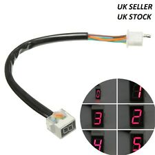 Universal Digital Gear Indicator Motorcycle Red Display Shift Lever Sensor UK