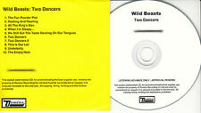 WILD BEASTS Two Dancers UK 10-tk numbered/watermarked promo test CD