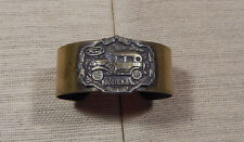 Vintage Style Bracelet Cuff Brass Ford Model A Plaque Wide