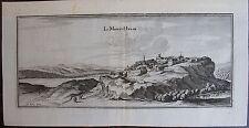Vue LE MONT HULIN.(PAS DE CALAIS) . MERIAN GRAVURE ORIGINALE DE 1655