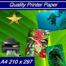 A4 120 gsm GLOSSY 2 SIDED PRINTER PAPER x 500 sheets - LASER - DIGITAL - LITHO