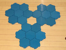 Heroscape Terrain - 21 x 1-Hex Blue Water Tiles - Expand Your Battlefield
