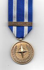 *** NEW***  NATO MEDAL WITH CLASP OUP - LIBYA/LIBYE -  MINIATURE MEDAL