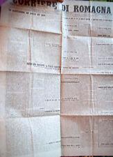 1920 'CORRIERE DI ROMAGNA' GIORNALE RAVENNATE TANTE NOTIZIE INTERESSANTI