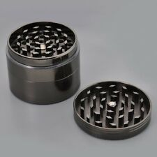 Magnetic Grinder 4 Part 50mm Grey Weed Leaf Tobacco CNC Weed Metal Pollinator
