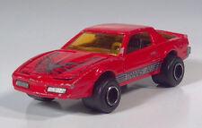 """1980s Majorette Pontiac Trans Am 3"""" Die Cast 1:62 Scale Model Red"""