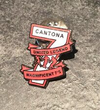 ERIC CANTONA FOOTBALL ENAMEL PIN BADGE - THE MAGNIFICENT 7 -  1 OF 5 TO COLLECT