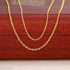 """Authentic 999 Solid 24K Yellow Gold Necklace / Perfect O Chain 16.5""""L"""