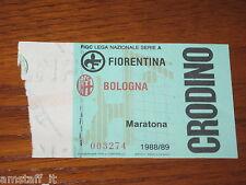 * FIORENTINA BOLOGNA 1988/89 CAMPIONATO SERIE A CALCIO=BIGLIETTO=TICKET=