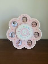 Nursery Newborn Pink Musical First 12 Months Photo Frame New Baby Girl Gift
