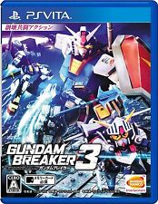 Used PS Vita Gundam breaker 3  Free Shipping with tracking number