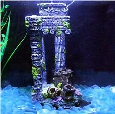 Exotic Environments Column Temple Ruins Greece Aquarium Ornament Remains Decor