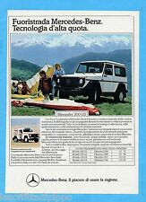 QUATTROR984-PUBBLICITA'/ADVERTISING-1984- MERCEDES 300 GD
