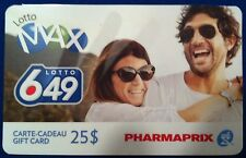 PHARMAPRIX Limited Edition LOTTO 649 Gift Card RECHARGEABLE No Value BILINGUAL