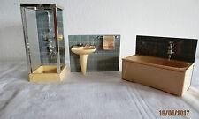 orig. LUNDBY Badmöbel 3 Teile  für Puppenhaus 60er - 70er Jahre