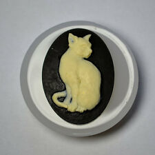 Cat Cameo silicone mould Cupcake polymer clay chocolate resin fimo mold
