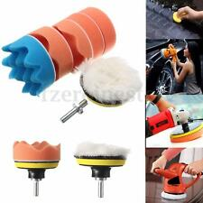 7Pcs 3 inch Buffing Pad Kit For Auto Car Polishing Wheel With M10 Drill Adapter