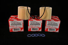 04152-YZZA6, Qty 5, Toyota Oil Filters With Drain Plug Gaskets