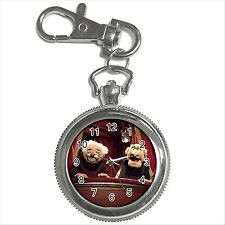 NEW* HOT STATLER AND WALDORF THE MUPPETS Silver Tone Key Chain Ring Watch Gift