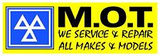 2FT X 6FT YELLOW MOT PVC OUTDOOR BANNER GARAGE WORKSHOP