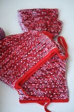 BABY DIOR RED WOOL BLEND KNIT HAT AND SCARF SET 2 YEARS