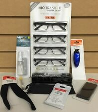 Foster Grant 4-Pack Xtra Sight +1.75 Rob Reading Glasses & Accessories Set New