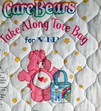 Care Bears Take Along Tote Bag Quilted Fabric Panel to Cut & Sew Cranston