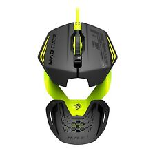 MAD Catz R.A.T. 1 RAT Gaming Mouse 3500 dpi SENSORE OTTICO NERO / LIME GIALLO